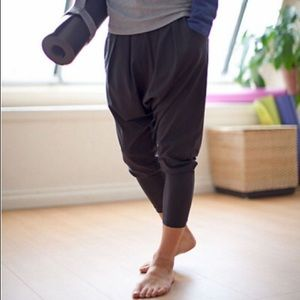Lululemon 'Happy Hatha' Cropped Harem Yoga Pants